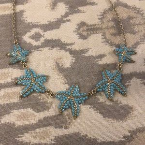 Jewelry - Turquoise gold starfish collar statement necklace